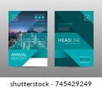 annual report brochure layout... | Shutterstock .eps vector #745429249