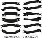 banner ribbon | Shutterstock .eps vector #745436764