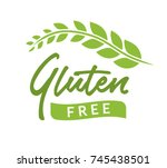 gluten free isolated drawn sign ... | Shutterstock .eps vector #745438501