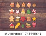 top view of different shapes of ... | Shutterstock . vector #745445641