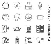thin line icon set   chip ... | Shutterstock .eps vector #745446439