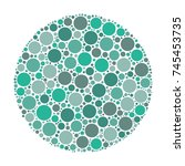 circle made of dots in shades... | Shutterstock .eps vector #745453735