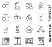 thin line icon set   share ...   Shutterstock .eps vector #745459057