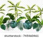 vector seamless vintage... | Shutterstock .eps vector #745460461