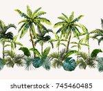 vector seamless vintage... | Shutterstock .eps vector #745460485