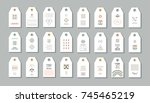 big collection of hang tags... | Shutterstock .eps vector #745465219