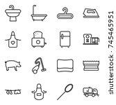 thin line icon set   sink  bath ... | Shutterstock .eps vector #745465951