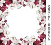 beautiful floral background of... | Shutterstock . vector #745466809