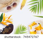 fashion blogger concept. set of ... | Shutterstock . vector #745472767