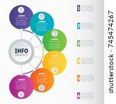 best for diagram or business... | Shutterstock .eps vector #745474267