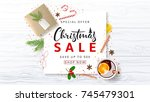 promo banner for christmas sale.... | Shutterstock .eps vector #745479301