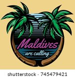 template for logo on the theme... | Shutterstock .eps vector #745479421