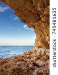beautiful seascape. rocky coast.... | Shutterstock . vector #745481635