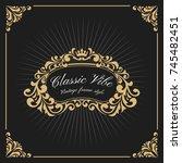 vintage luxury monogram logo... | Shutterstock .eps vector #745482451