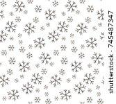 christmas new year seamless... | Shutterstock .eps vector #745487347