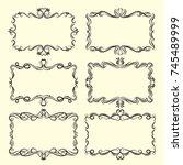 vector ornamental design... | Shutterstock .eps vector #745489999