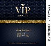 vip party premium invitation... | Shutterstock .eps vector #745494211