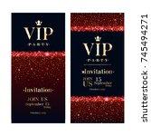vip club party premium... | Shutterstock .eps vector #745494271