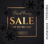 black friday sale. discount web ... | Shutterstock .eps vector #745501861