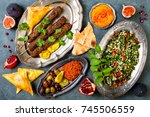 middle eastern traditional... | Shutterstock . vector #745506559