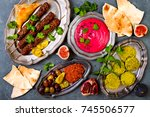 middle eastern traditional... | Shutterstock . vector #745506577