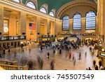 grand central terminal  nyc | Shutterstock . vector #745507549