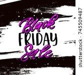 trendy lettering poster. hand... | Shutterstock .eps vector #745509487