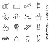 thin line icon set   diagram ... | Shutterstock .eps vector #745514779