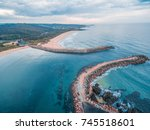 aerial view of coastline near... | Shutterstock . vector #745518601