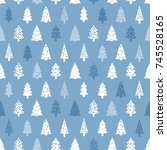 christmas wrapping paper... | Shutterstock .eps vector #745528165