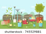 gardening and agriculture... | Shutterstock .eps vector #745529881