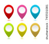 colourful gps map markers... | Shutterstock .eps vector #745531081