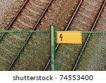 empty railway track pair view...   Shutterstock . vector #74553400