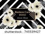 gerber daisy flowers postcard...   Shutterstock .eps vector #745539427