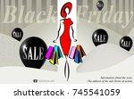 shopping black friday   Shutterstock .eps vector #745541059