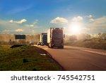 truck on a highway   Shutterstock . vector #745542751