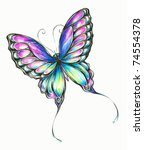 Delicate Colorful Butterfly...