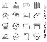 thin line icon set   graph  sun ... | Shutterstock .eps vector #745544131
