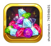 vector app icon with colorful...