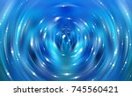 brilliant blue light circle.... | Shutterstock . vector #745560421