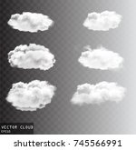 vector clouds over transparent... | Shutterstock .eps vector #745566991