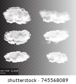 vector clouds over transparent... | Shutterstock .eps vector #745568089