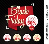 black friday  sale  discount ... | Shutterstock .eps vector #745570105