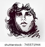 jim morrison rock star portrait ...