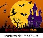 happy halloween | Shutterstock . vector #745573675
