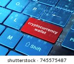 cryptocurrency concept ...   Shutterstock . vector #745575487