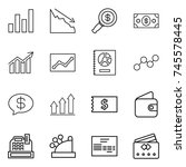 thin line icon set   graph ...   Shutterstock .eps vector #745578445