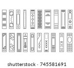 set of book covers. linear...   Shutterstock .eps vector #745581691