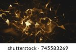 abstract plexus background....   Shutterstock . vector #745583269
