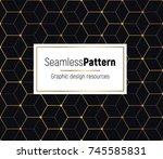 geometrical golden seamless...   Shutterstock .eps vector #745585831